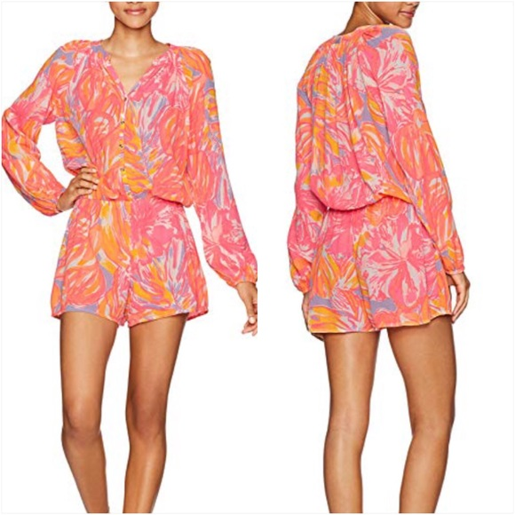 5c44fb9a0967 Lilly Pulitzer Elsa Romper in Sun Splashed Multi